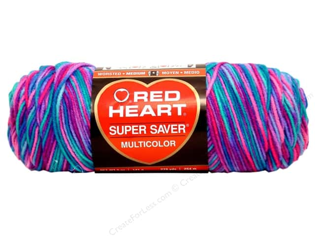 Red Heart Super Saver Yarn #0784 Bonbon Print 5 oz.