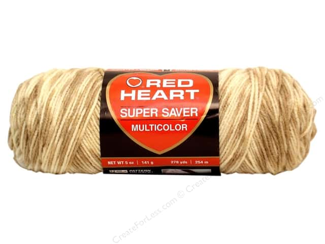Red Heart Super Saver Yarn #0792 Sandy Print 5 oz.