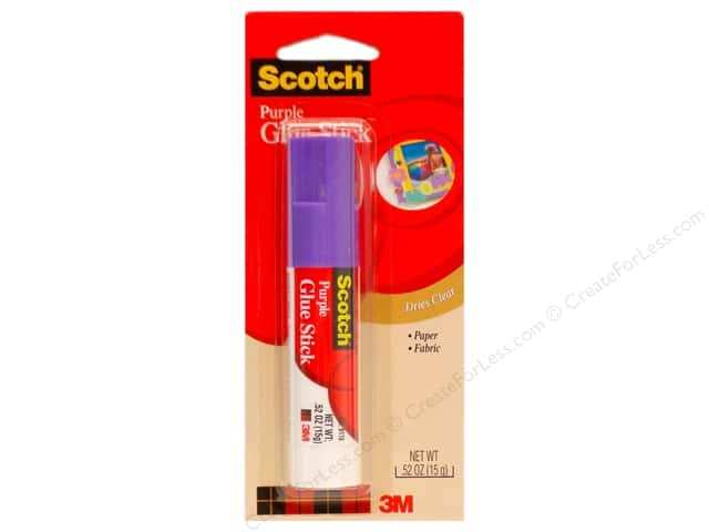 Scotch Glue Stick Permanent .52 oz Purple