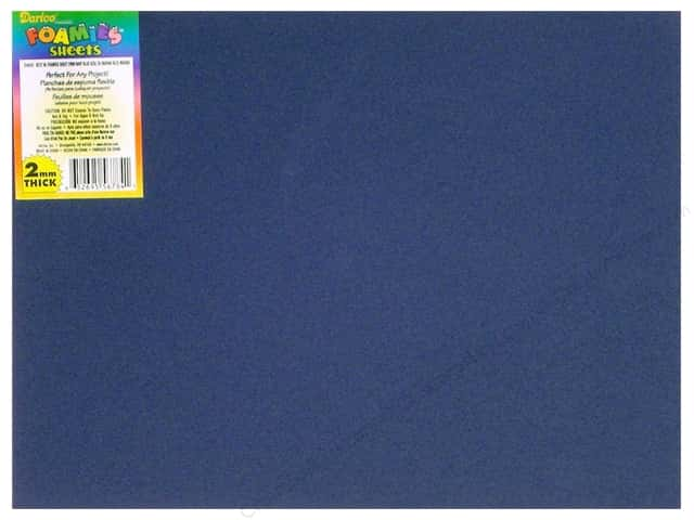 "Darice Foamies Sheet 9""x 12"" 2mm Navy Blue (10 sheets)"