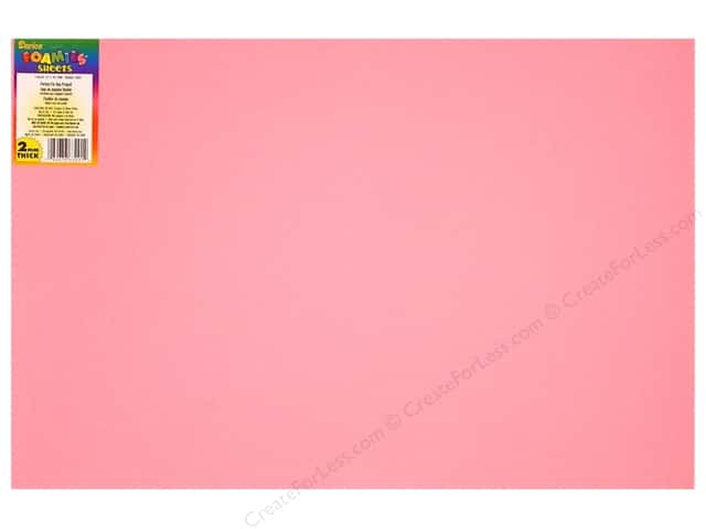 Foamies Foam Sheet 2mm 12 x 18 in. Pink (10 sheets)