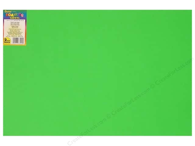 "Darice Foamies Sheet 12""x 18"" 2mm Light Green (10 sheets)"