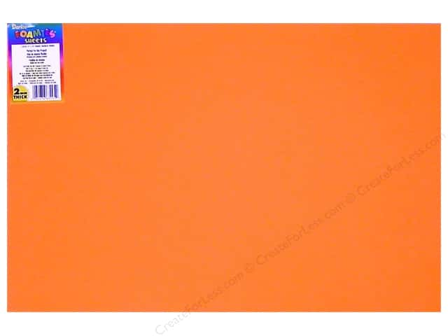 "Darice Foamies Sheet 12""x 18"" 2mm Orange (10 sheets)"