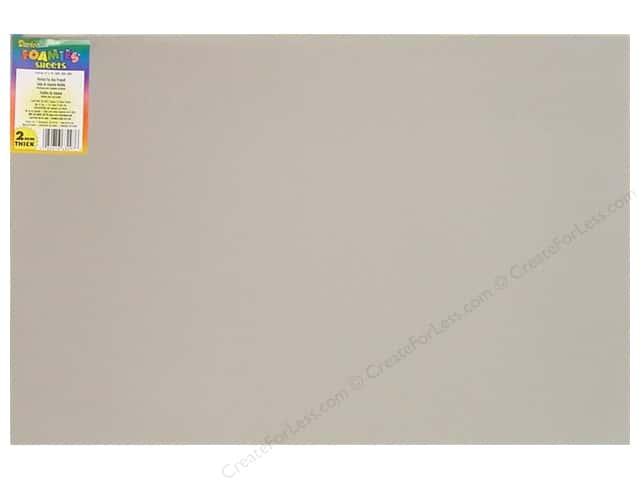 "Darice Foamies Sheet 12""x 18"" 2mm Grey (10 sheets)"
