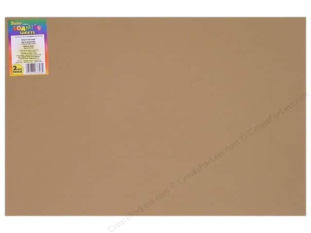 Foamies Foam Sheet  2mm 12 x 18 in. Light Tan (10 sheets)