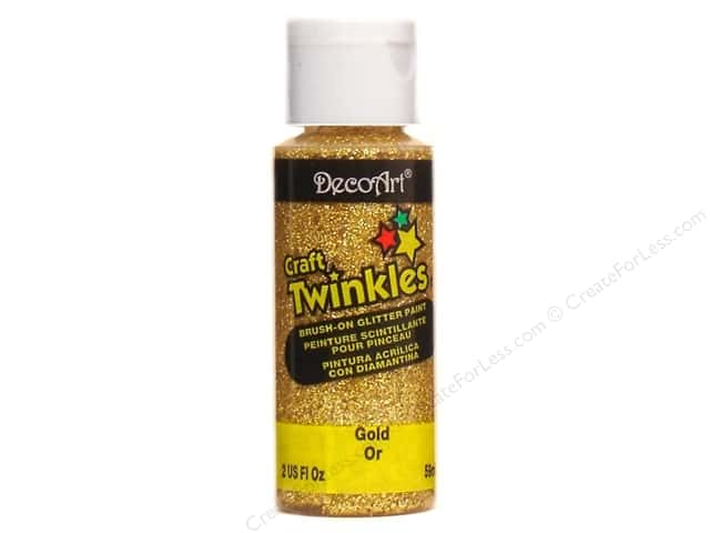 DecoArt Craft Twinkles 2oz Gold