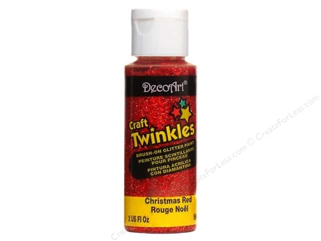 DecoArt Craft Twinkles 2 oz. Christmas Red