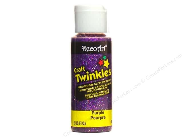 DecoArt Craft Twinkles 2oz Purple