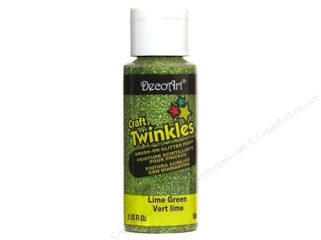 DecoArt Craft Twinkles 2oz Lime Green