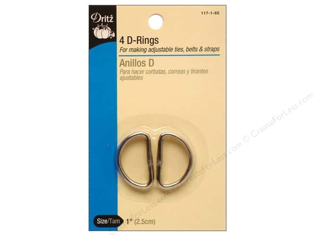 D Rings by Dritz 1 in. Nickel 4pc.