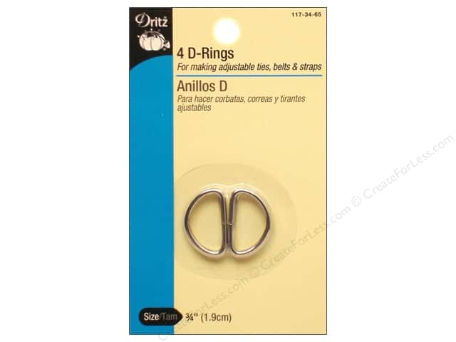 D Rings by Dritz 3/4 in. Nickel 4pc.