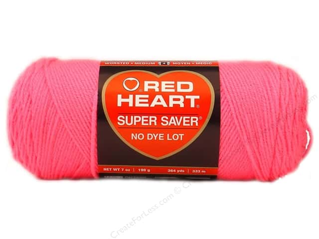 Red Heart Super Saver Yarn #0722 Pretty N Pink 7oz 7 oz.