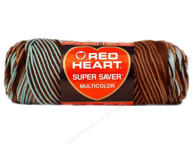 Red Heart Super Saver Yarn #0928 Earth & Sky 5 oz.