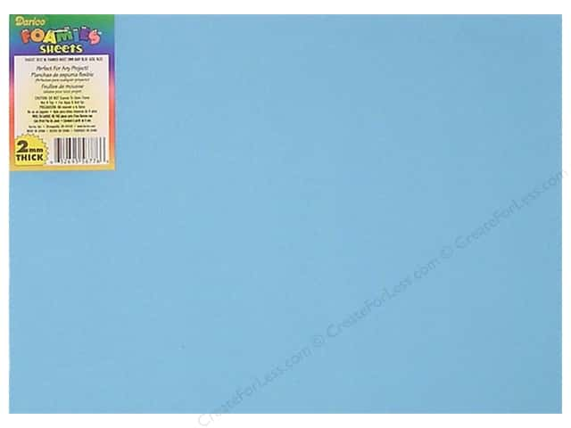 "Darice Foamies Sheet 9""x 12"" 2mm Baby Blue (6 sheets)"