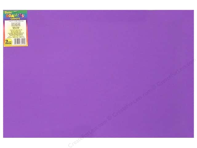 Foamies Foam Sheet 2mm 12 x 18 in. Purple (10 sheets)