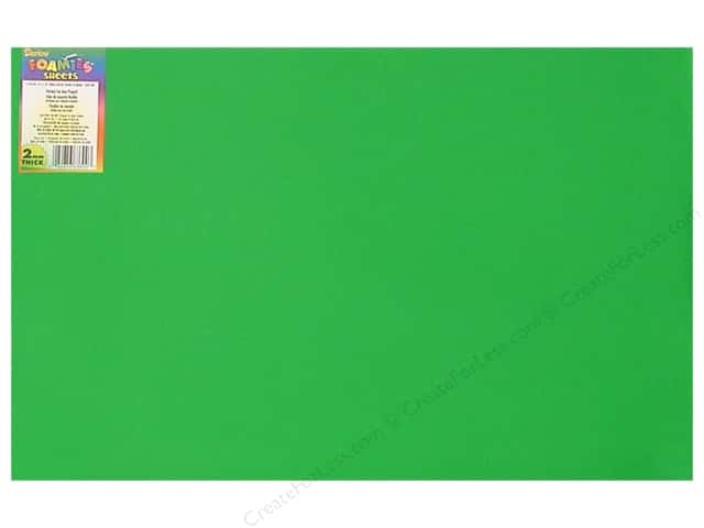 Foamies Foam Sheet  2mm 12 x 18 in. Christmas Green (10 sheets)