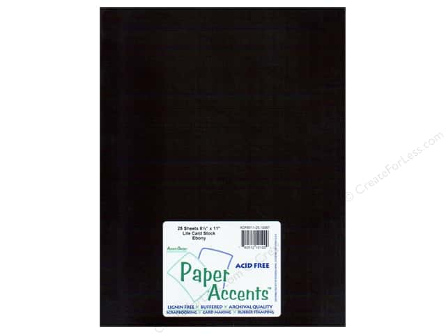Cardstock 8 1/2 x 11 in. #10067 Stash Builder Ebony by Paper Accents (25 sheets)