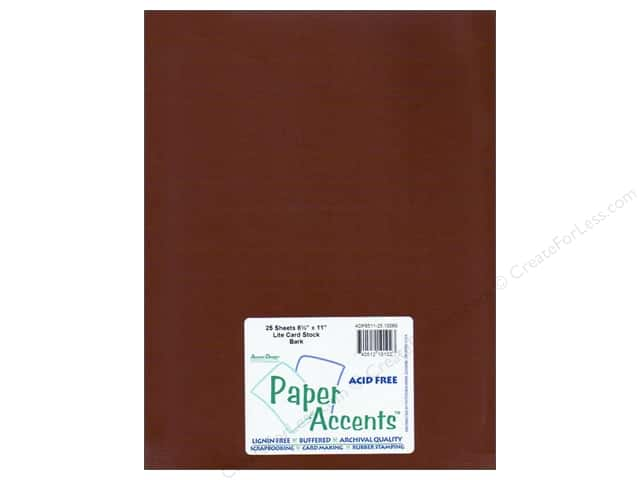 Cardstock 8 1/2 x 11 in. #10069 Stash Builder Bark by Paper Accents (25 sheets)
