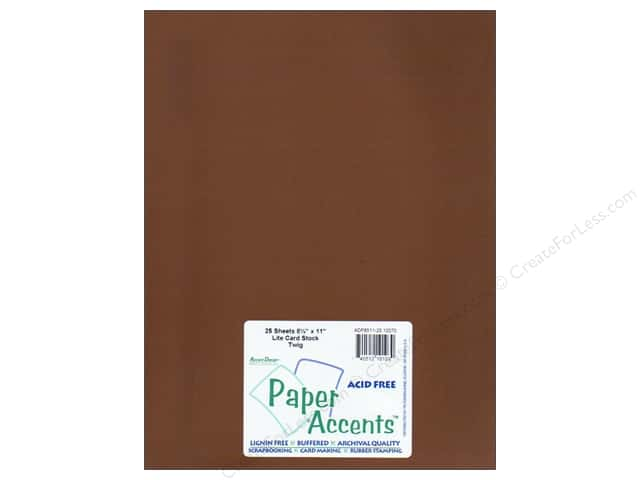 Cardstock 8 1/2 x 11 in. #10070 Stash Builder Twig by Paper Accents (25 sheets)