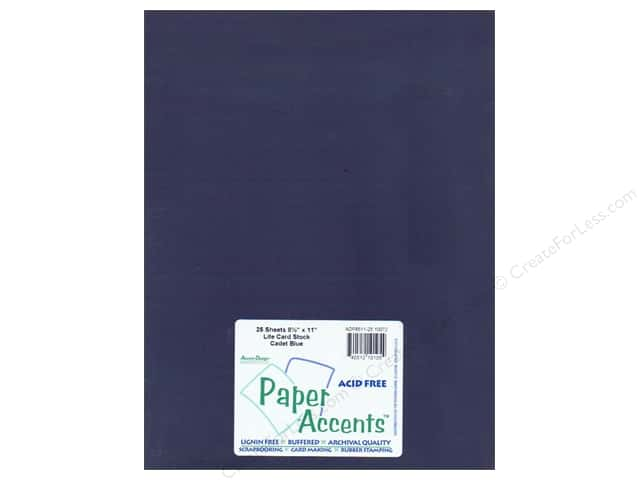Cardstock 8 1/2 x 11 in. #10072 Stash Builder Cadet Blue by Paper Accents (25 sheets)