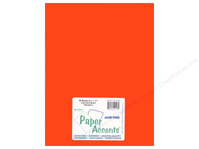 Cardstock 8 1/2 x 11 in. #10080 Stash Builder Mandarin by Paper Accents (25 sheets)