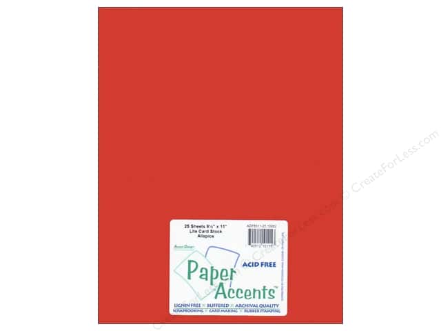 Cardstock 8 1/2 x 11 in. #10082 Stash Builder Allspice by Paper Accents (25 sheets)