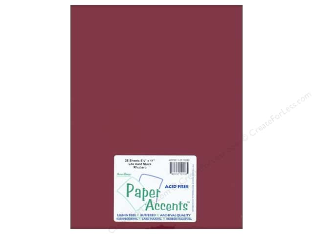 Cardstock 8 1/2 x 11 in. #10085 Stash Builder Rhubarb by Paper Accents (25 sheets)