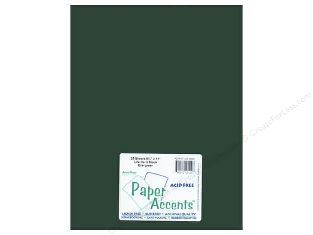 Cardstock 8 1/2 x 11 in. #10087 Stash Builder Evergreen by Paper Accents (25 sheets)