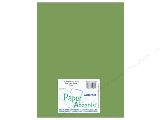 Cardstock 8 1/2 x 11 in. #10089 Stash Builder Frog by Paper Accents (25 sheets)