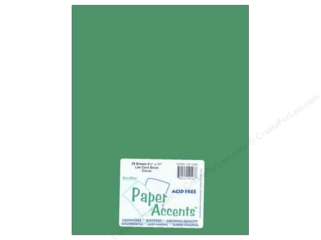Cardstock 8 1/2 x 11 in. #10090 Stash Builder Clover by Paper Accents (25 sheets)