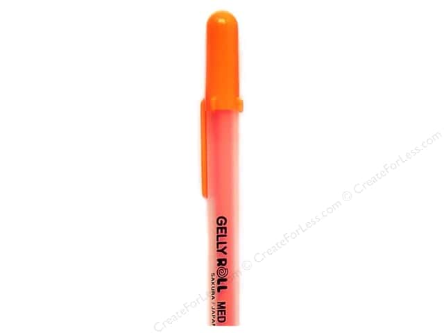 Sakura Gelly Roll Pen Gel Ink Bulk Medium Point Orange (3 pieces)