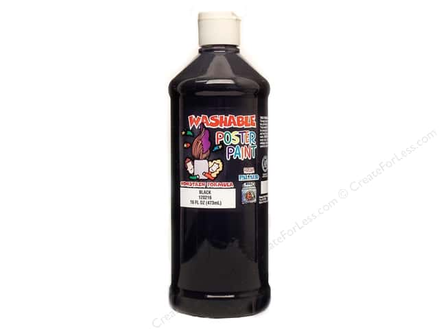 Palmer Washable Poster Paint 16oz Black