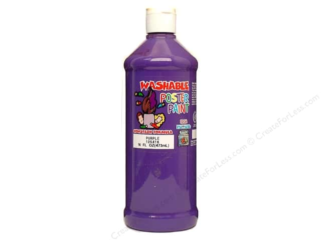 Palmer Washable Poster Paint 16oz Purple
