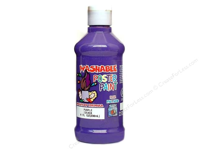 Palmer Washable Poster Paint 8oz Purple