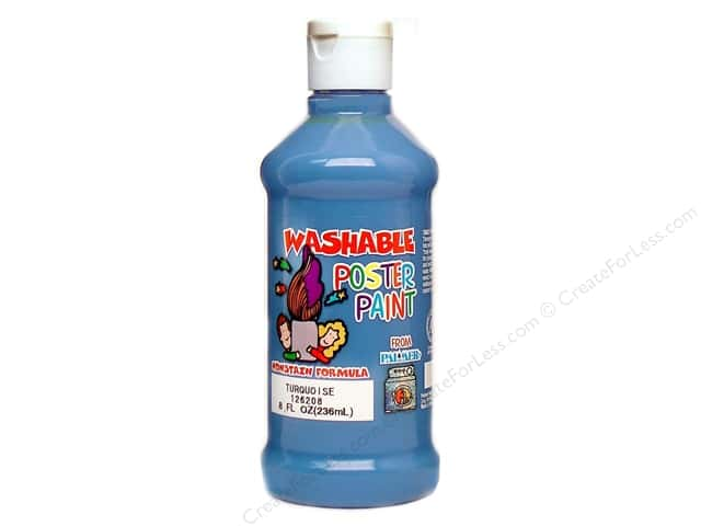 Palmer Washable Poster Paint 8oz Turquoise