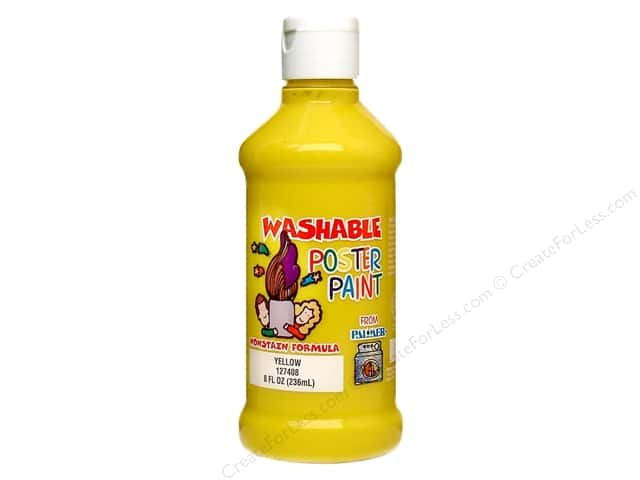 Palmer Washable Poster Paint 8oz Yellow