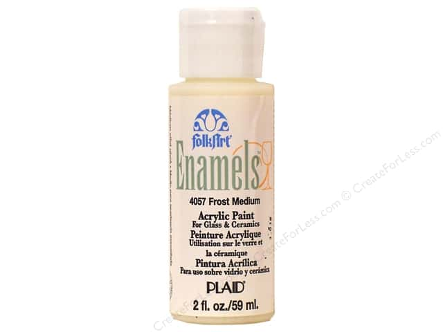 Plaid FolkArt Enamels Paint 2 oz Frost Medium