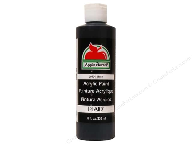 Plaid Apple Barrel Paint 8oz Black