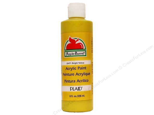 Plaid Apple Barrel Paint 8oz Bright Yellow