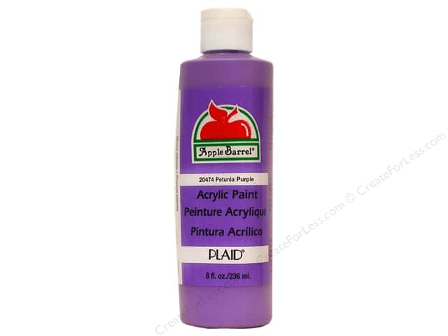 Plaid Apple Barrel Paint 8oz Petunia Purple