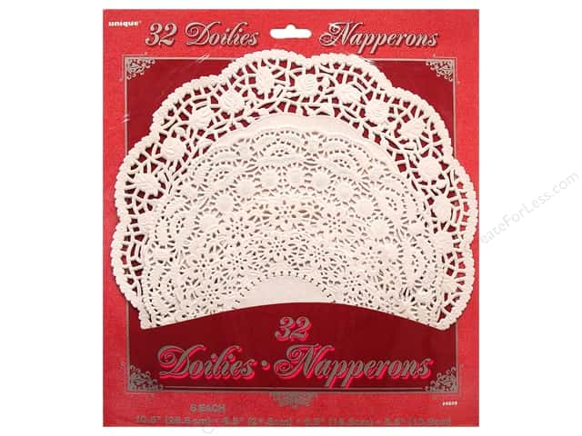 Unique Doilies Round Assorted White 32 pc