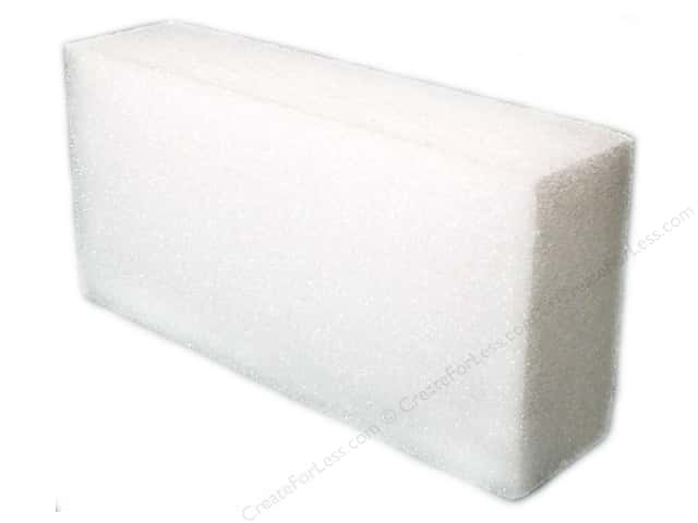 "FloraCraft Styrofoam Bulk Block 4""x8""x2"" White (6 pieces)"