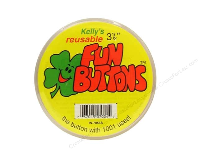Kelly's Fun Button 3 1/2 in. (12 pieces)