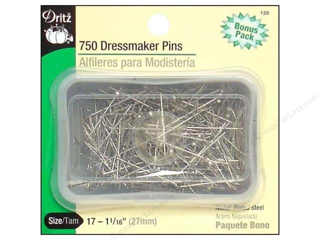 Dritz Pins Dressmaker Size 17 Steel 750pc