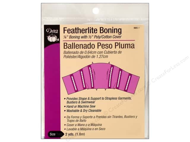 Featherlite Boning by Dritz 1/4 in x  2 yd