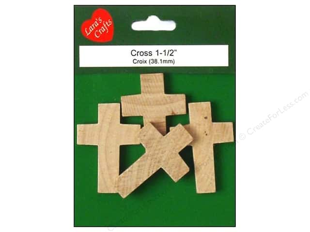 Lara's Wood Cross 1 1/2 in. 4 pc.