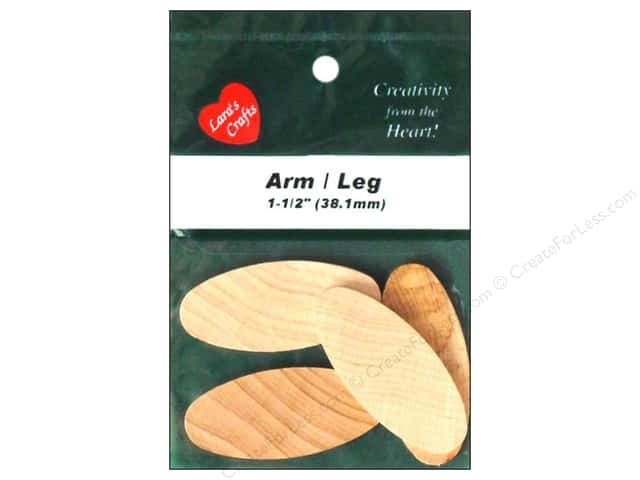 Lara's Wood Angel Arm / Leg 1 1/2 in. 4 pc.