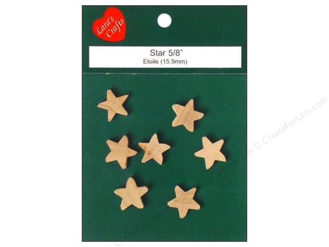 "Lara's Wood Star 5/8""x 1/8"" 7 pc"