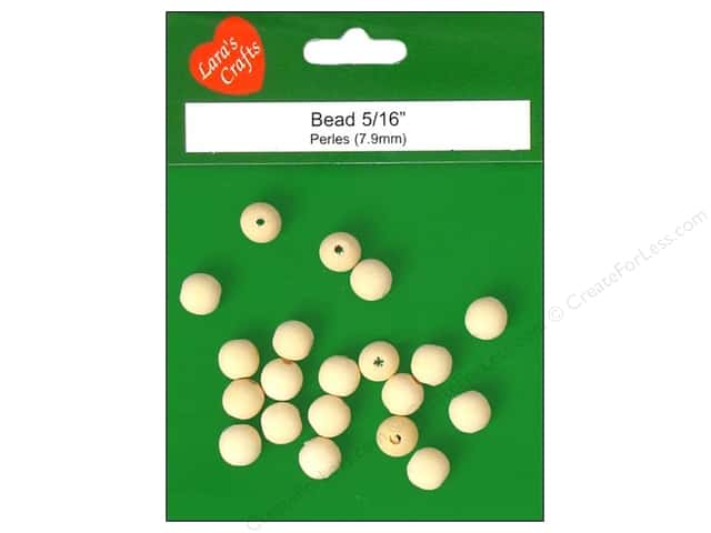 Lara's Wood Round Bead 5/16 in. 20 pc.