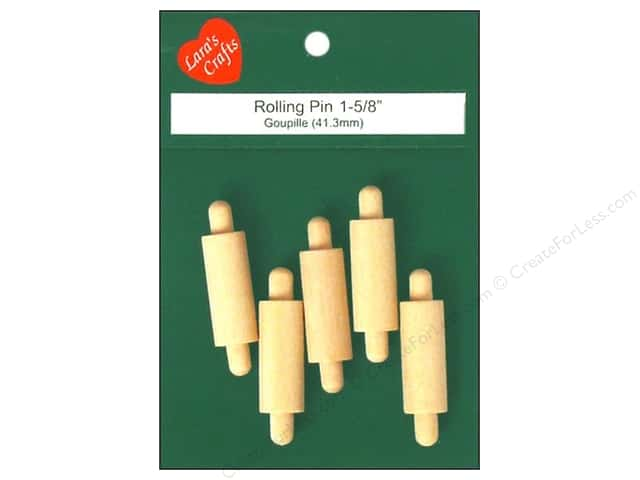 Lara's Wood Rolling Pin 1 5/8 in. 5 pc.